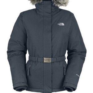 NORTH FACE Hooded Goose Down Jacket, Black, Medium